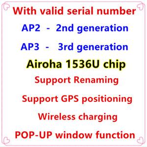 Geçerli Seri Numarası Airoha 1536U Çip Kulaklık GPS Rename Air AP3 Pro PRO AP2 GEN 2 GEN 3 TWS Bluetooth Kulaklık Kablosuz Şarj Kulaklıklar