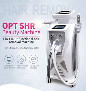 Newest ND YAG Laser Hair Removal Machine SHR OPT IPL Elight Tattoo Removal Black Face Doll Carbon Peeling Double Screen