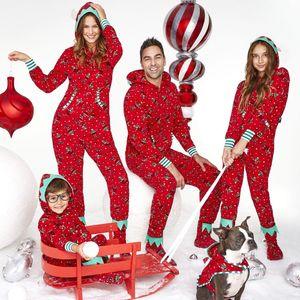 Christmas Família Correspondência Roupa Xmas Casa Desgaste Romper Jumpsuit Party Club Pajamas Set Sleepwear Mulheres Homens Criança Namorada