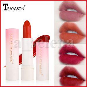 Teayason 6 Colors Lip Makeup Lipstick Long Lasting Moisture matte Lipstick Red Nude Lip Lipsticks Waterproof lip Cosmetic