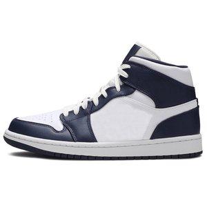 TY Mid Obsidian Familia Jumpman 1 1S عالية OG Volt University الأزرق الرجعية أحذية كرة السلة الدخان ميدان رمادي منتصف وايت الظل المدربين