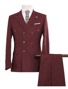 Kundenspezifische Tweed-Männer passt den britischen Stil moderner Blazer 3 Stück Männeranzüge (Jacke + Pants + Weste) Benutzerdefinierte Anzug S-5XL