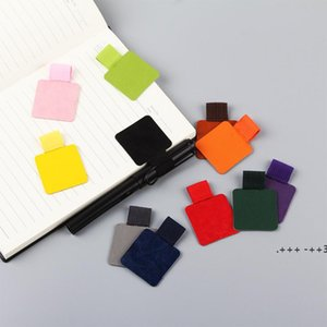 Colorful Self-adhesive PU Leather Pen Holder Clips Pencil Elastic Loop for Notebooks,Journals,Clipboards FWD10428
