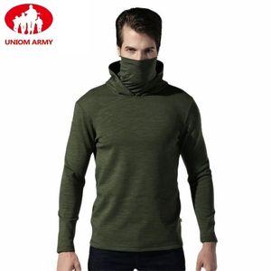 Mens Tactical Fleece Army Hoodies Military Hooded Scarface Sweatshirt Male Slipknot Mask Turtleneck Pullover Windbreaker Black 201103