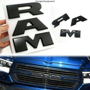 3D for R&A&M Letters 1500 DT OEM Front Grille Emblem Matte Black ABS Nameplate