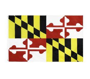 Maryland State Flag MD State Flag 3x5FT banner 100D 150X90CM Polyester brass grommets custom flag WWA127