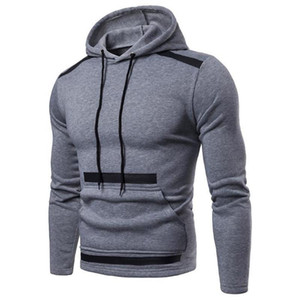 Mens Hooded Sweatshirt Hoodies Casual Loose Warm Streetwear Male Fashion Autumn Winter Outwear Hoodies Male Tops