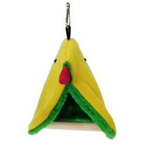 Inverno bella tenda pappagallo giocattolo ispessito caldo peluche uccello nido caverna amaca hamming gabbia decorazione pet rifornimenti morbidi