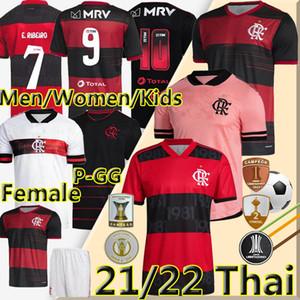 2021 2022 Camisa Flamengo Futbol jersey Formaları Rosa Gabriel B.Henrique de Arrascaeta Futbol Gömlek Diego E.Ribeiro Gerson Erkekler Kadınlar Çocuk Kitleri futbol jerseys