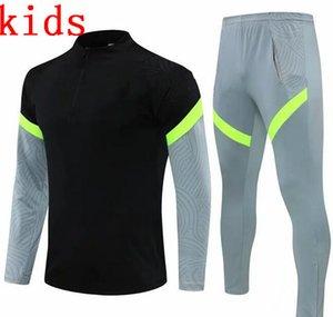 2021 Çocuklar Erkek Madrid Survetement Ceket Eğitim Takım Elbise Futbol Eşofman 2021 Atletico Eşofman Futbol Ceket Eşofman Seti
