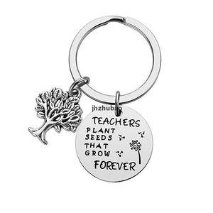 JH insegnante portachiavi insegnanti semi di piante che crescono per sempre presente portachiavi portachiavi charm gioielli portachiavi portachiavi keyrin qylwki