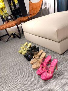 Британские ретро женские тапочки на высоком каблуке классические дизайнерские фабрики оптом противоскользящие износостойкие роскошные упаковки размером 34-42