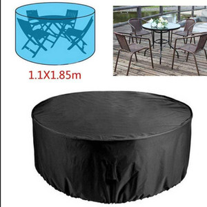 Polyester Outdoor Table Cover Camp Patio Furniture Covers Garden Table and Chairs Rainproof Dustproof UV Resistant Silver Lining1