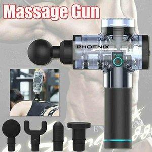 Muscle Massager آلة التدليك الرياضية وضع ارتفاع التردد تدليك مدلي العضلات الاسترخاء الجسم الاسترخاء الكهربائية مدلك