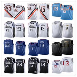 Los AngelesKesme makineleriErkekler Çocuklar 2 Leonard Jerseys Paul 13 George Lou 23 Williams Basketbol Formaları 2021 Şehir Formaları Edition Mavi Siyah Beyaz Gençlik S-3XL