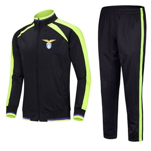 SS Lazio 2021 jacket football training suit mid-length can be customized for any pattern team men's sports running suit training suit