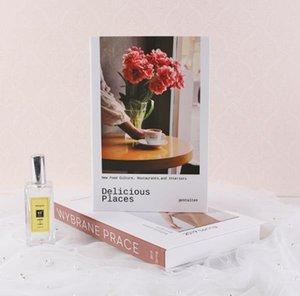 현대 시뮬레이션 패션 책 홈 장식 클럽 호텔 모델 룸 연구 여성의 거실 룸 소프트 Y0107에 대 한 부드러운 가짜 도서 장식