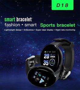 D18 Pantalla redonda Pulsera inteligente Pantalla de color Monitoreo de sueño a prueba de agua Perómetro Reloj Deportes Smart Watche con envases al por menor