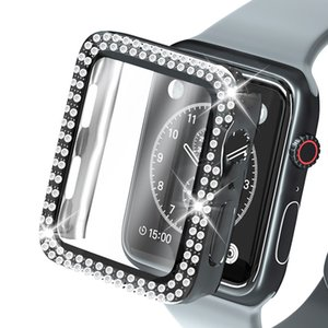 Bling Protective Cases for Apple Watch iWatch Series 6 5 4 3 2 1 with 9D HD Tempered Glass Shockproof Cover