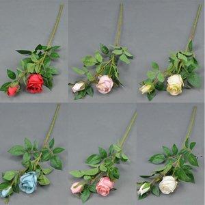 2 Bulgar Güller 68 cm Uzunluk Sahte Gül Simülasyon Bulgar Güller DIY Gelin Buketi Aksesuarları Ev Dekoratif Çiçek DHA4238