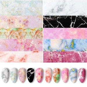 Transferencia de uñas Tinta Tinta Halo Dye Nail Marbling Cloud Starry Sky Pegatina Japonesa DIY Decoración 10 unids