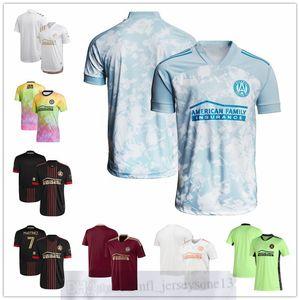 مخصص أتلانتا رجل إمرأة شباب United FC 7 Josef Martínez 17 Atlanta Supporters Black 2021 The Blvck Kit Authentic Jersey