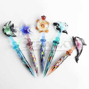 DHL!!! Beracky High Quality Animal Glass Dabber Tool Colored Heady Dab Tool For Wax Oil Tobacco Quartz Banger Nails Dab Rigs Bongs Smoking