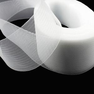 Liso Stiff Liso Duro Crins Crinolines Crinolines Trança para fazer Vestido e chapéu preto branco para escolher 100yard / lote