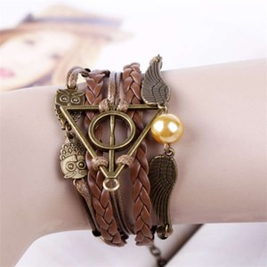 Accessories harry potter deathly hallows wings hand woven Bracelet Fashion Accessories