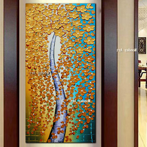 Hand painted canvas art painting, palette knife, Jinhua, oil painting, flower art, modern canvas, wall art, home decoration