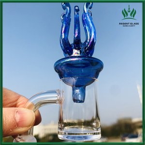 Universal Colored Glass Carb Cap Dome for Thick Quartz Banger Nail oil rig Glass Bongs Wax Oil Burner Pipe Smoking Tool