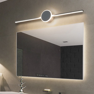 Modern Nordic Luxury LED Mirror Lights Wall Lamps For Bathroom Bedside Mirror Front Lamp LED AC90-260V Home Makeup Simple Mirror Lights