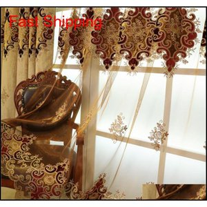 European And American High Quality Custom Luxury Villas Elegant Fresh Living Room Curtains Embroidered C jllhEL allguy