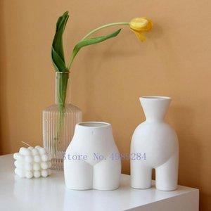 Creativity Resin Vase Abstract Body umano Nudo Vaso a mano Vaso Disposizione dei fiori Arredamento artigianale arredamento moderno decorazione della casa