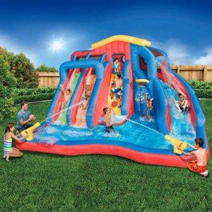 2021 DHL piscina inflável com slash splash bounce casa tubarão de segurança parque aquático jogo PVC segurança inflável segurança