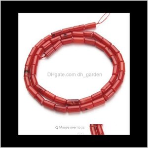 Shell, Bone, Jewelry1Strand Lot 4X8Mm Red Natural Column Coral Loose Beads For Diy Bracelet Necklace Jewelry Making Materials F2791 Drop Del