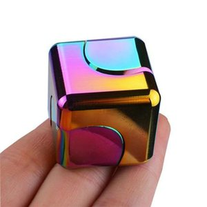 Finger Toys Children's Toy Gyro Magnetic Top Alloy Rotating Magic Cube Fingertip Spinning Decompression Artifact