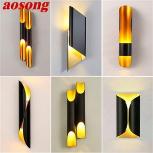 Wall Lamps AOSONG Nordic Simple Sconces Light Modern LED Lamp Fixtures For Home Corridor Stairs Decoration