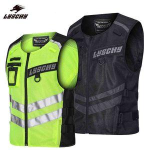 Motorcycle Cycling MTB Moto Bike Night Riding Safety Light Breathable Reflective Warning Vests Clothing