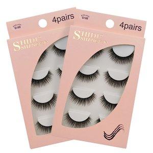 4 Pairs box Mink Eyelashes False Lashes Mink 3d Fake Eyelash Extension Make Up Cilios Natural Long Cruelty Free Lash