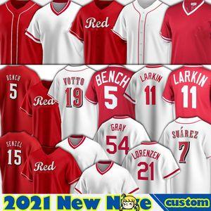신시내티 저지 19 조이 벳토 유니폼 5 조니 벤치 Barry Larkin Baseball Noe Ramirez Eugenio Suarez Shogo Akiyama Nick Castellanos