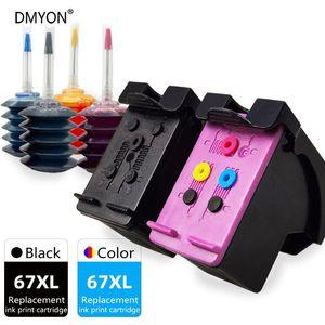 Ink Cartridges 67 XL Larger Capacity Cartridge Compatible For 67XL ENVY Pro 6464 6466 6467 6469 6472 6475 6478 Printer