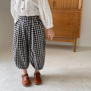 AMBB Qulaity Kids Girls Plaid Pants New Fashions Children Trousers Spring Autumn Lovely Girls Child Pants