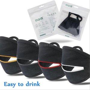 Heißer Verkäufer kreative Reißverschluss Gesichtsmaske Anti Staub Gesichtsmaske Munddeckel leicht zu trinken waschbar wiederverwendbare Schutzdesigner Masken auf Lager