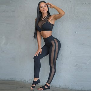 lulu Leggings Yoga Set for Women Fitness Gym Clothing Sportswear Mesh Workout Sport Tracksuit Yoga Running Gym Suits Push Up Sport Set