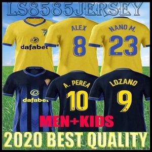 20 21 Cádiz CF Futebol Jerseys Home Lozano Alex Bodiger Camiseta A Liga Camisetas de Fútbol 2020 2021 Cádiz Afastado Men Kit Kit Football Shirts