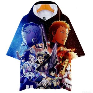 Hooded Anime Black Clover 3D Print Harajuku T Shirt Boys and Girls Cartoon Print Funny Tshirt Short Sleeve Graphic Tees Cosp