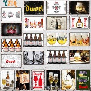 Yzfq belgium cerveza metal vintage signos decorativos barra bar restaurante restaurante cocina hombre cueva decoración vintage 30x20cm du-9263a q0308