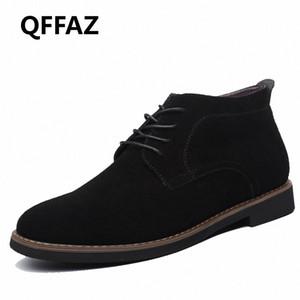 QFFAZ Marca masculina de gamuza de cuero zapatos para hombres botas de hombre sólido casual cuero otoño invierno botines talla grande 38 45 botas no 7 bootie fr 27fq #