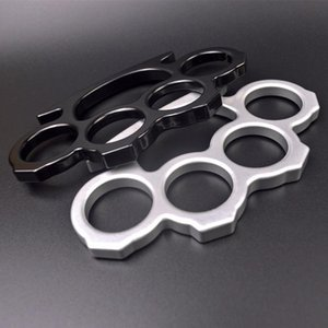 10PCS Silver and Black Thin Steel Brass knuckle dusters,Self Defense Personal Security Women's and Men's self-defense Pendant45641611